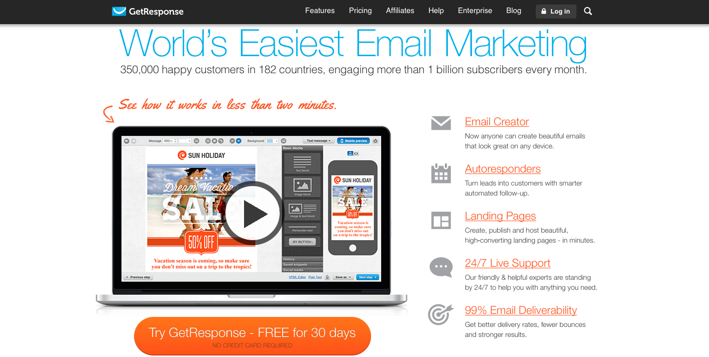 GetResponse Review: Best Low Cost Email Marketing Software